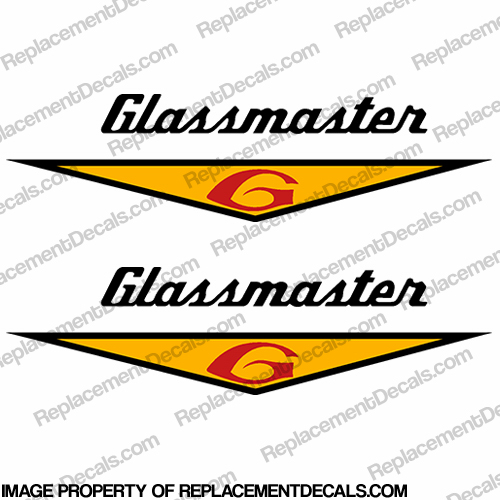 Glassmaster Boat Decals (Set of 2) - Yellow