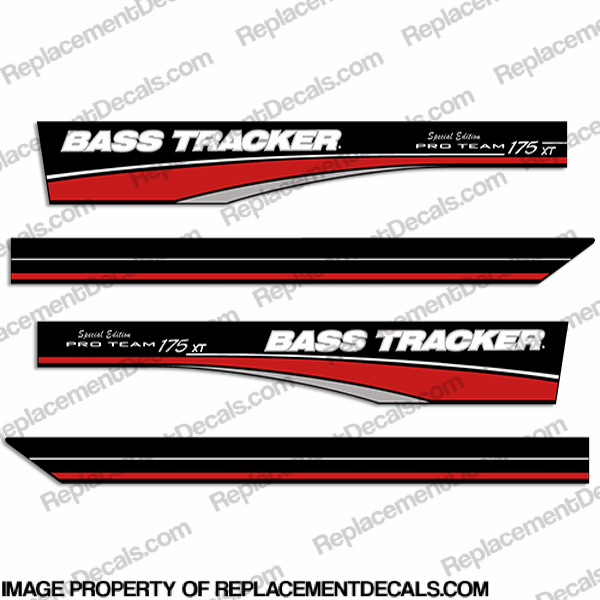 Bass Tracker Pro Team 175 XT Decals - Special Edition