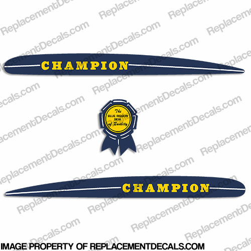 1948-1950 Champion Vintage Antique Decals