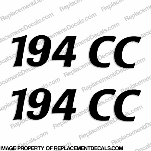 "Cobia Boats ""194CC"" Decals (Set of 2) - Any Color!"