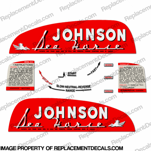 Johnson 1950 10hp Decals (QD-10)