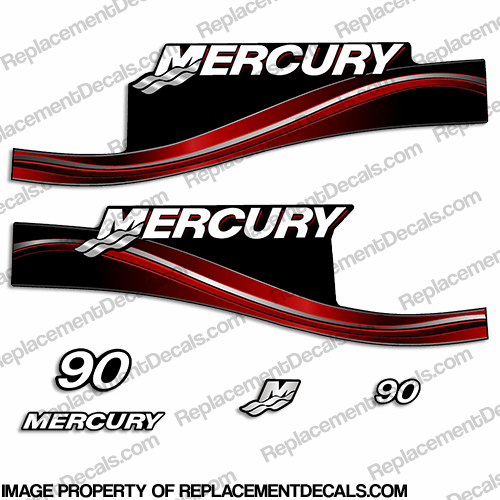 Mercury 90hp ELPTO Decal Kit - 2005 (Red)