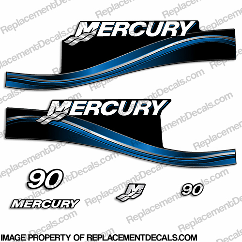 Mercury 90hp ELPTO Decal Kit - 2005 (Blue)