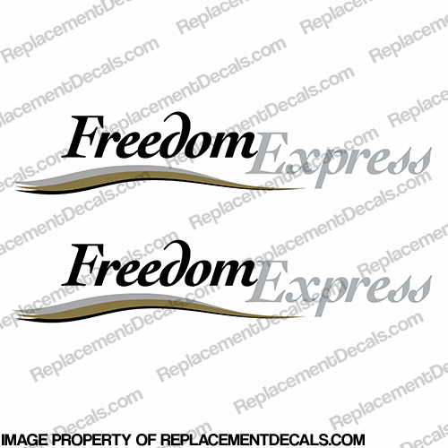 Coachmen Freedom Express RV Decals with Color Graphic (Set of 2)
