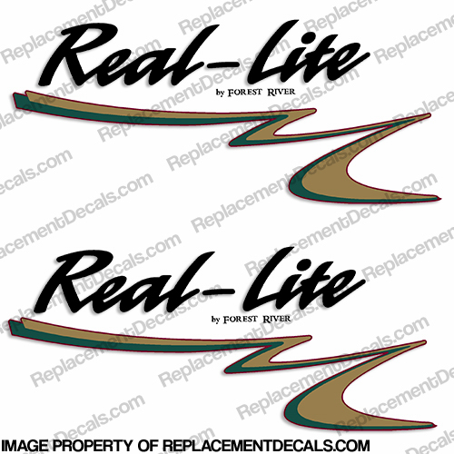 Real-Lite by Forest River RV Decals with Color Graphic (Set of 2)