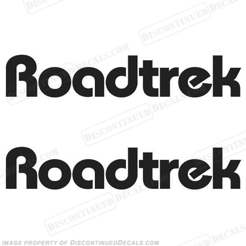RoadTrek RV Logo Decals - Style 1 - (Set of 2) Any Color!