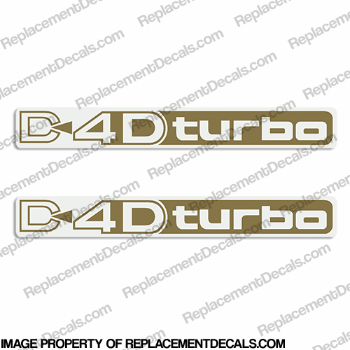 Toyota Landcruiser D4D Turbo Decals (Set of 2) - Any Color!