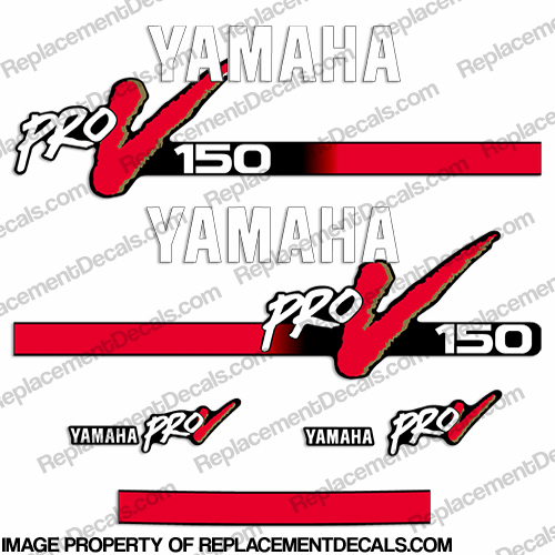 Yamaha 150hp ProV Decal Kit