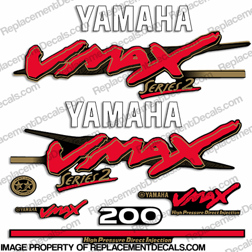 Yamaha 200hp vmax series 2 decals for Yamaha vmax outboard review