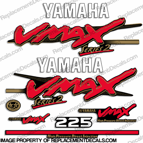 Yamaha 225hp vmax series 2 decals for Yamaha vmax outboard review