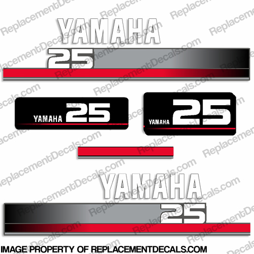 Yamaha 1996 25hp decals for Yamaha replacement decals
