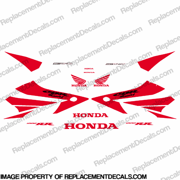 1000RR Full Factory Replica Decal Kit - Red