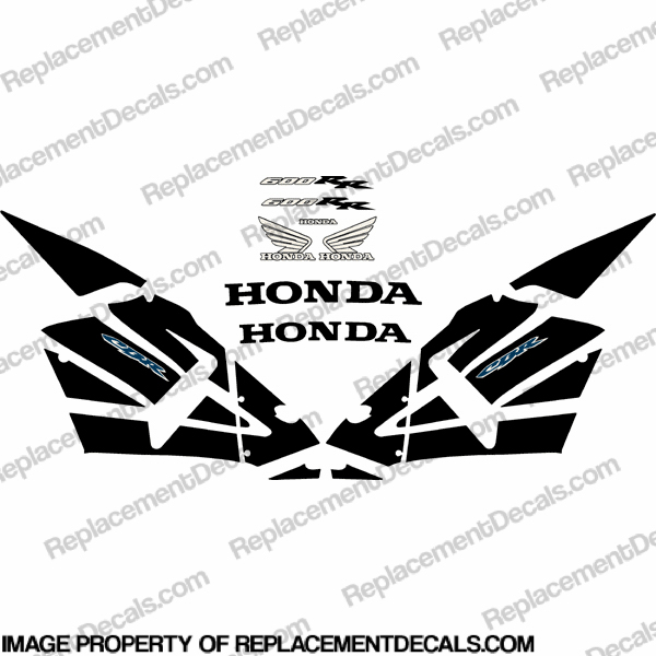 600RR Full Replica Decal Kit 02-04 - Black