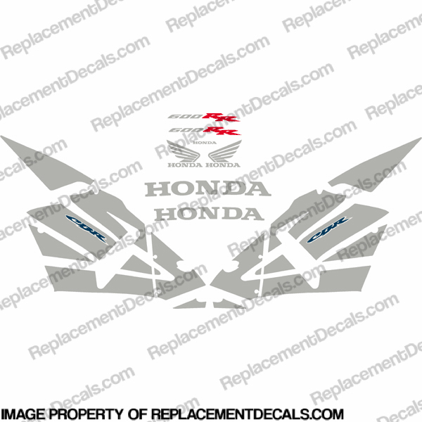 600RR Full Replica Decal Kit 03-04 - Silver