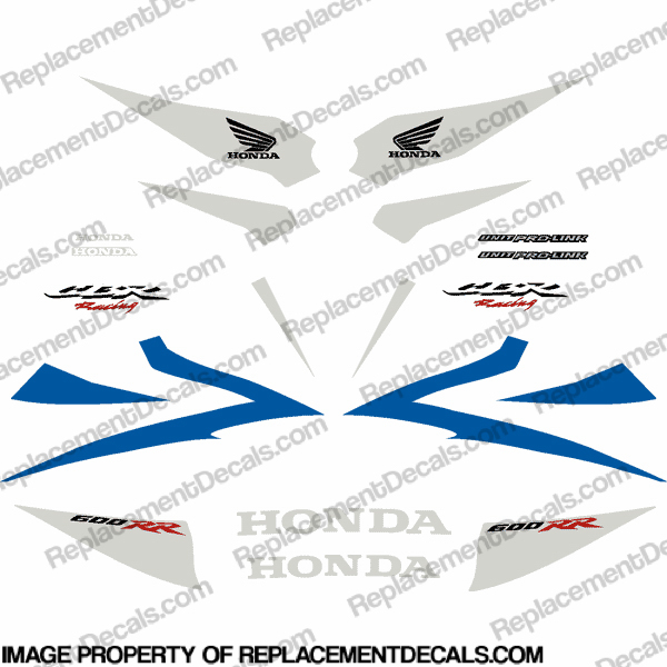 600RR 07-08 Full Factory Replica Decal Kit - Blue