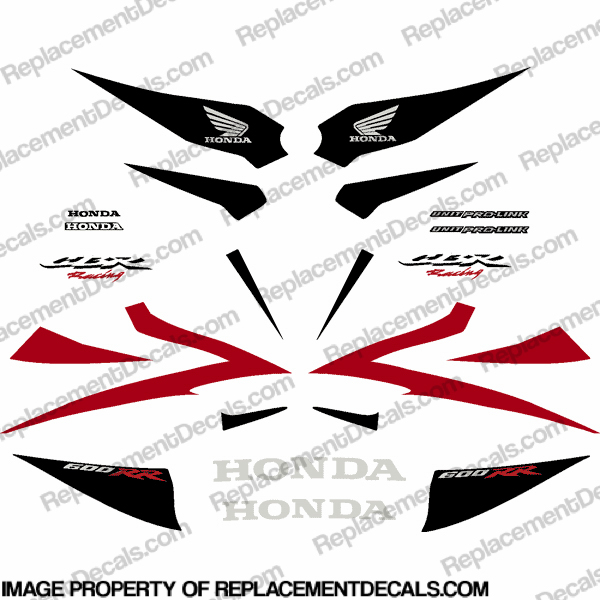 600RR 07-08 Full Factory Replica Decal Kit - Red