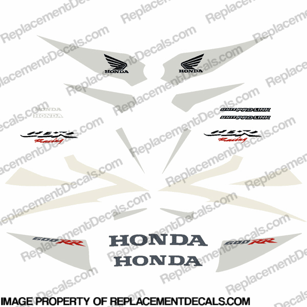 600RR 07-08 Full Factory Replica Decal Kit - White