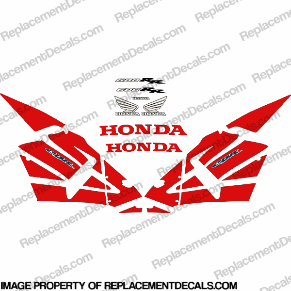 600RR Full Replica Decal Kit 03-04 - Red