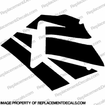600RR Left Fairing Decals (Black)