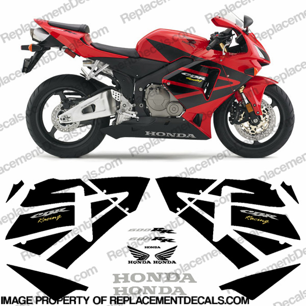 600RR Full Replica Decal Kit 05-06 - Red/Black