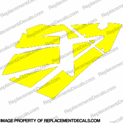 600RR Right Fairing Decals (Yellow)