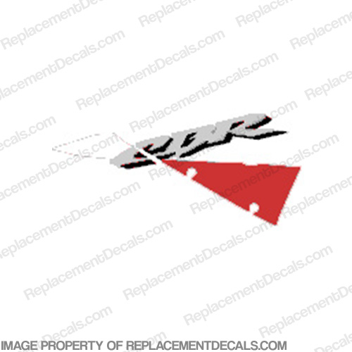 "929 Right Upper ""CBR"" Decal (White/Red)"