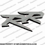 "954 Left Mid Fairing ""RR"" Decal (Silver/Black)"