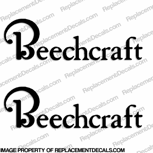 Beechcraft Aircraft Logo Decals (Set of 2) - Any Color!