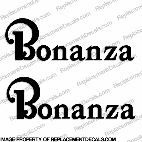 Beechcraft Bonanza Aircraft Logo Decals (Set of 2) - Any Color!