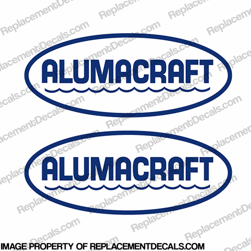 Alumacraft Boat Logo Decals - Style 1 (Set of 2)