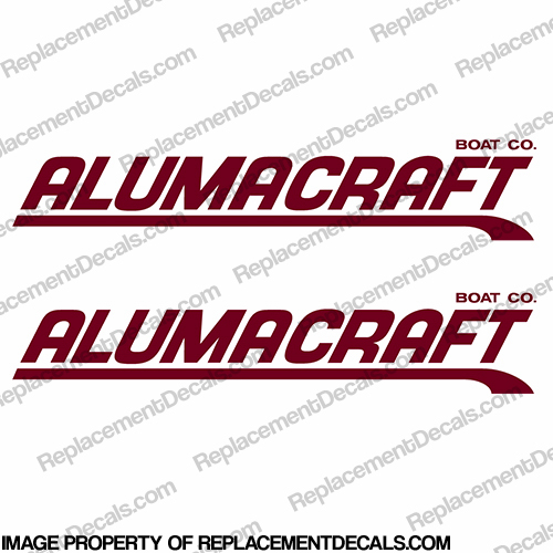 Alumacraft Boat Logo Decals - Style 3 (Set of 2)
