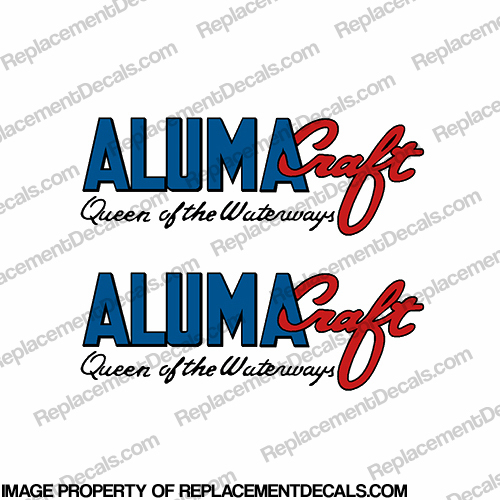"Alumacraft ""Queen of the Waterways"" Boat Decals  (Set of 2)"