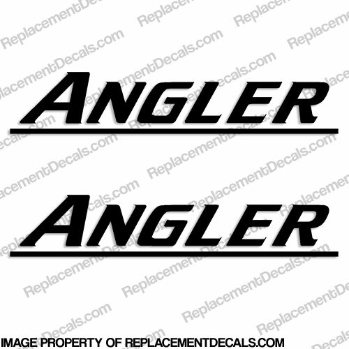 Angler Boat Logo Decals - (Newer Style) Any Color!