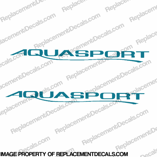 New Style Aquasport Boat Decals (Set of 2) - Any Color