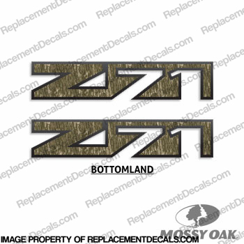 Chevy Avalanch Z71 Decals (Set of 2) - Mossy Oak Camoflauge