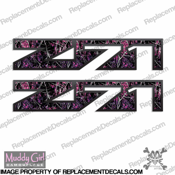 Chevy Avalanch Z71 Decals (Set of 2) - Muddy Girl - Pink