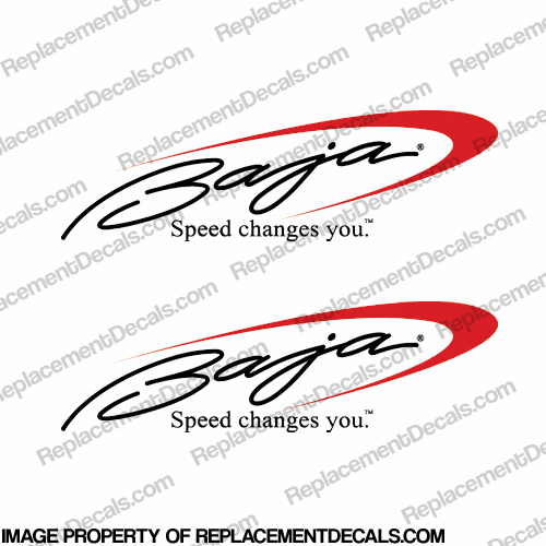 Baja Boat Logo Decal (Set of 2)