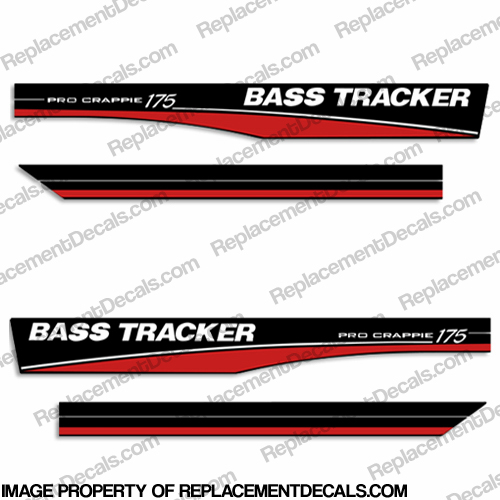 Bass Tracker Pro Crappie 175 Decals - Red