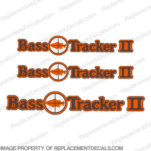Bass Tracker II Target Boat Decal Package - 1970s 70, 70s, 2