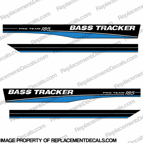 Bass Tracker Pro Team 185 Decals - Blue