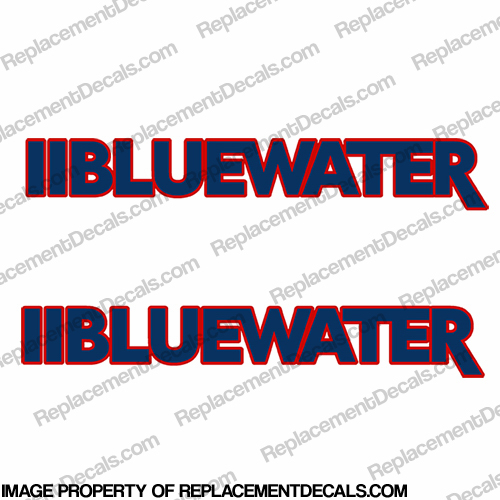 Bluewater Custom Boat Decals (Set of 2)