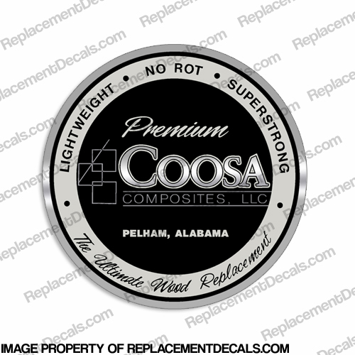 Coosa Composites Boat Logo Decal
