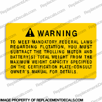 Boat Warning Decal