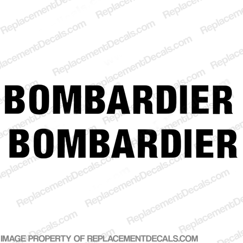 "SeaDoo ""Bombardier"" Jet Boat Decals (Set of 2)"