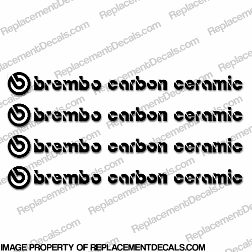 Brembo Carbon Ceramic Brake Caliper Decals