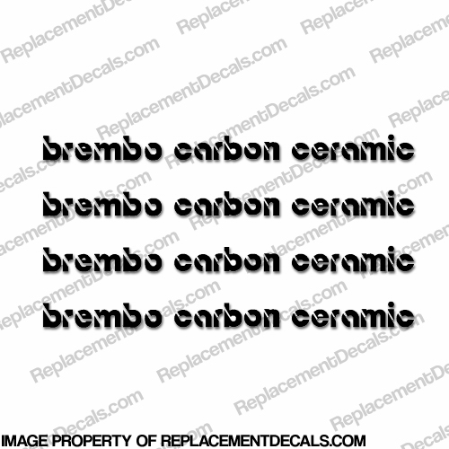 Brembo Carbon Ceramic Brake Caliper Decals (No logo)