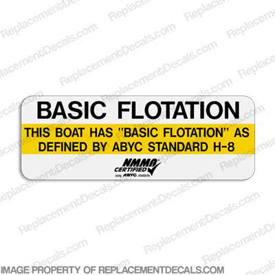 """Basic Flotation"" Capacity/Label Decal"