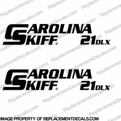 Carolina Skiff 21 DLX Boat Decals - (Set of 2) Any Color!