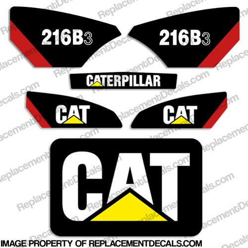 Caterpillar 216B-3 Skid Steer Decal Kit