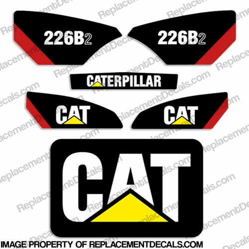 Caterpillar 226B-2 Skid Steer Decal Kit